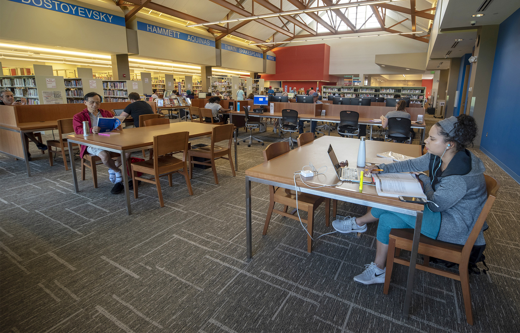 The Library provides access to information that supports and enriches people's lives
